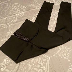 Black high waisted compression leggings